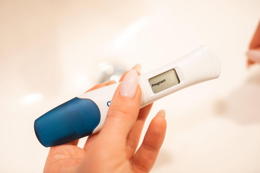 A positive pregnancy test